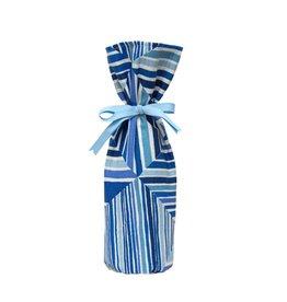 Kreatelier Bottle Gift Bag Blue Square