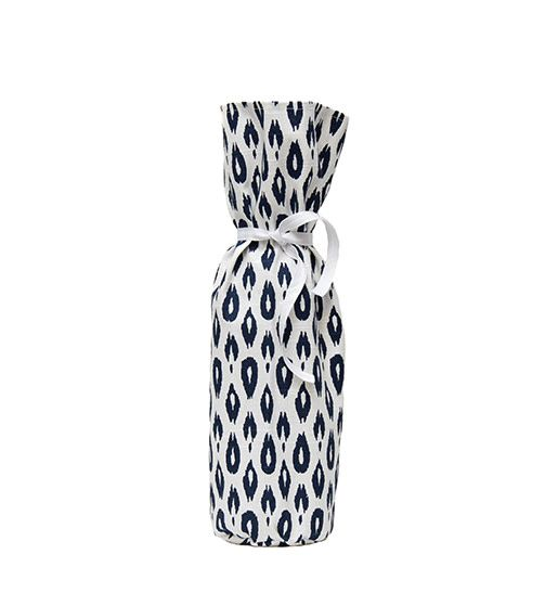 Kreatelier Bottle Gift Bag Ikat Navy