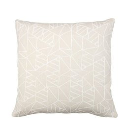 Kreatelier Abstract Geometric Pillow in Cream - 18 x 18in