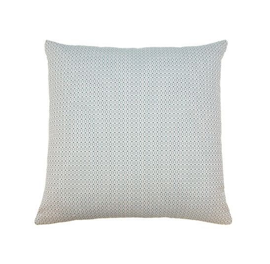Kreatelier Geo Pillow in Blue and White - 18 x 18in