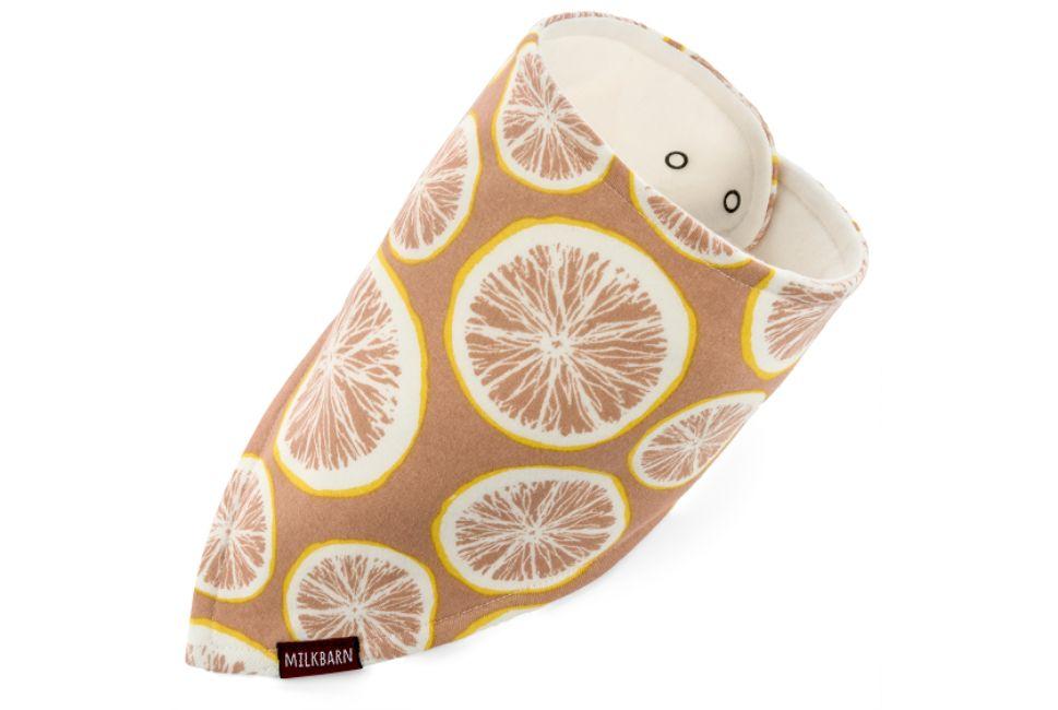 Milkbarn Kerchief Bib in Grapefruit