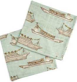 Milkbarn Bamboo Bundle Burpies Blue Ships