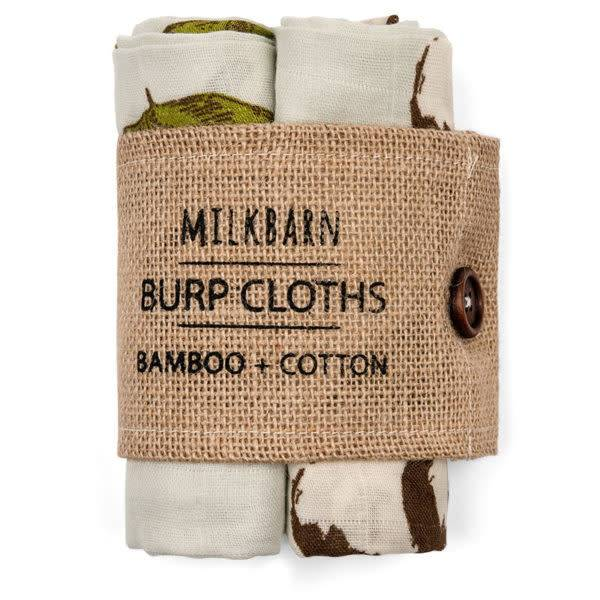 Milkbarn Burp Cloths Bamboo + Cotton Blue Ships