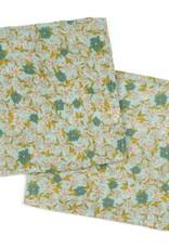 Milkbarn Burp Cloths Bamboo + Cotton Teal Flower