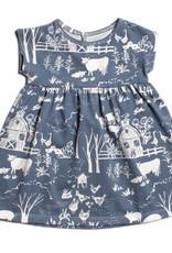 Winter Water Factory Merano Baby Dress Farm Slate Blue