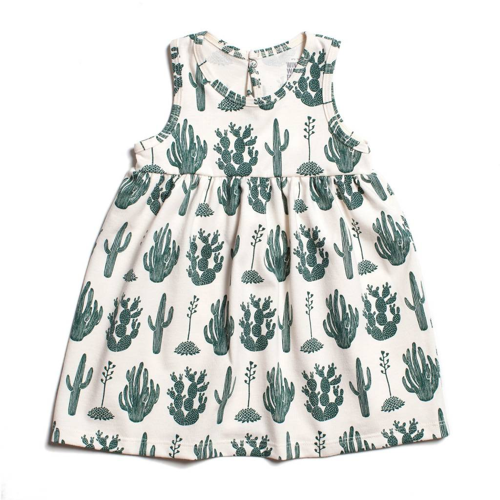 Winter Water Factory Oslo Baby Dress Cactus Green