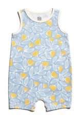 Winter Water Factory Tank Top Romper Holland Floral Blue & Yellow