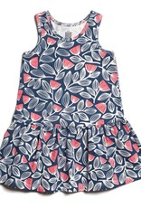 Winter Water Factory Valencia Dress Holland Floral Navy & Orange