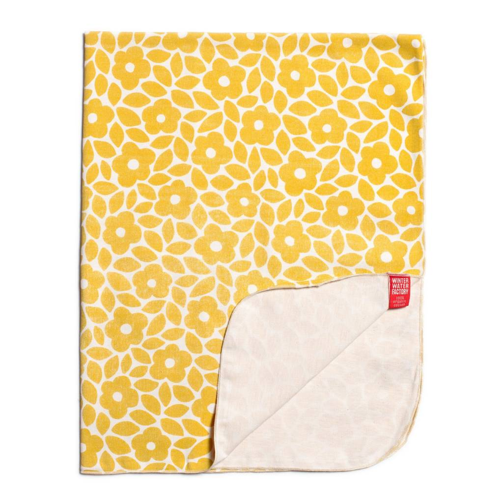 Winter Water Factory Lightweight Blanket Marrakesh Floral Yellow