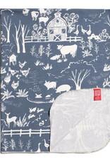 Winter Water Factory Lightweight Blanket The Farm Slate Blue