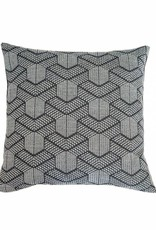 Kreatelier Geometric Pillow in Grey and White 18 x 18in