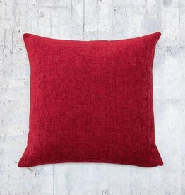 Kreatelier Chenille Pillow in Burnt Red - 18 X 18in