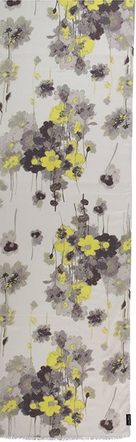 Fraas Painted Floral Scarf Off White
