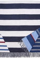 Fraas Stripes Throw Navy