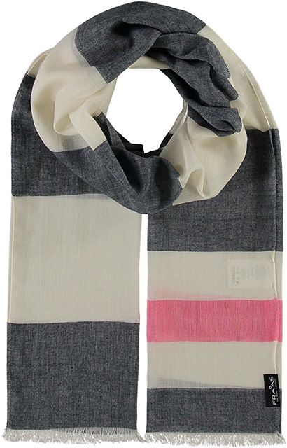 Fraas Sail Stripes Scarf Navy