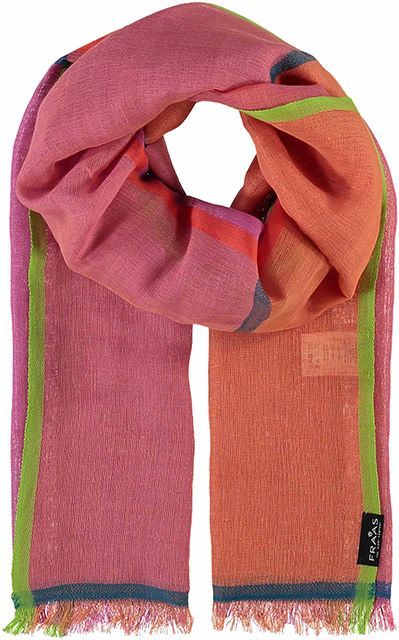 Fraas Bright Blocks Scarf Pink