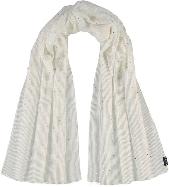 Fraas Metallic Dots Scarf Off White
