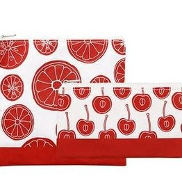 3greenmoms 2-Pack Reusable Bag Set Red Fruit (Zippered)