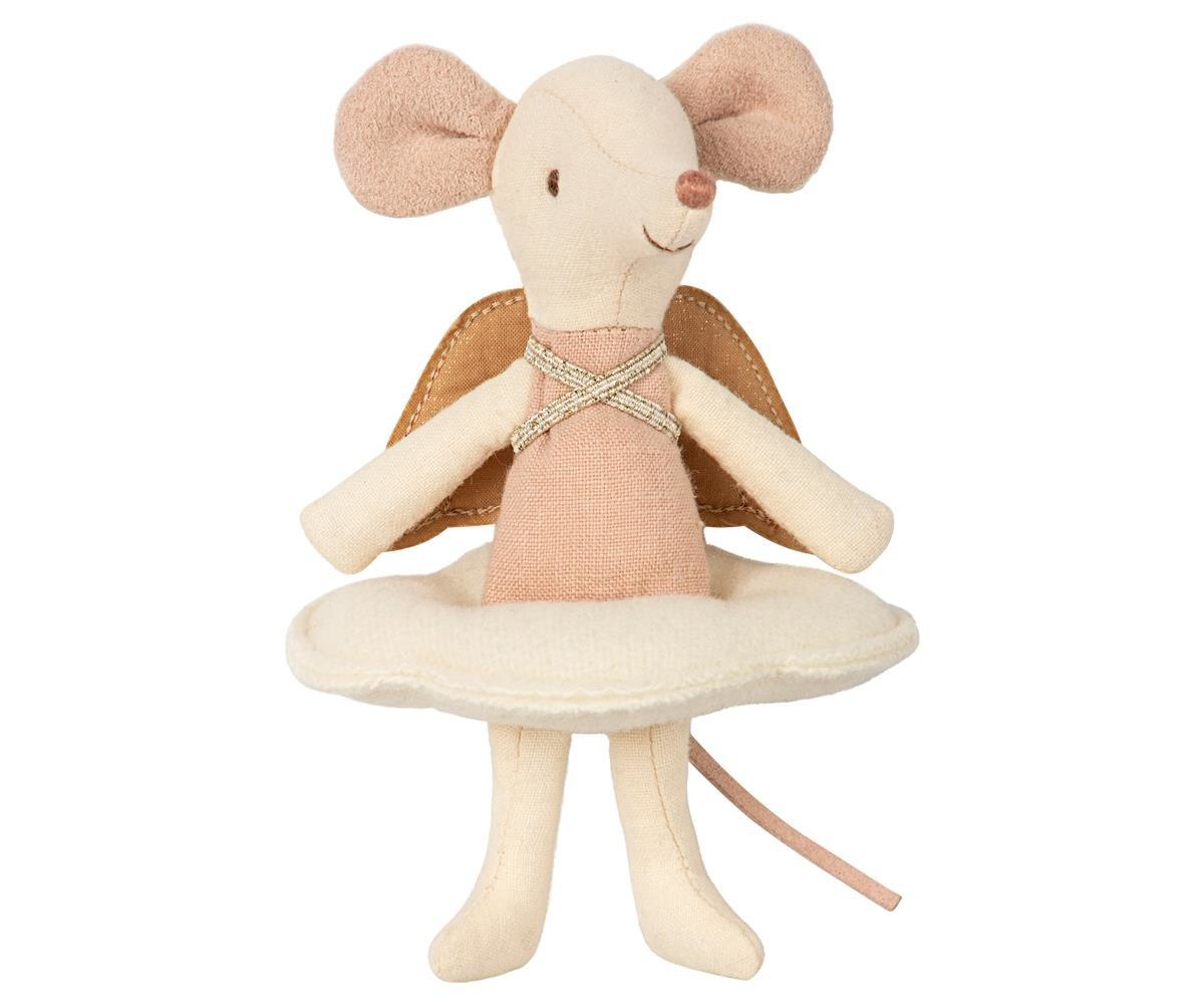 Maileg Mouse Angel Big Sister in Book