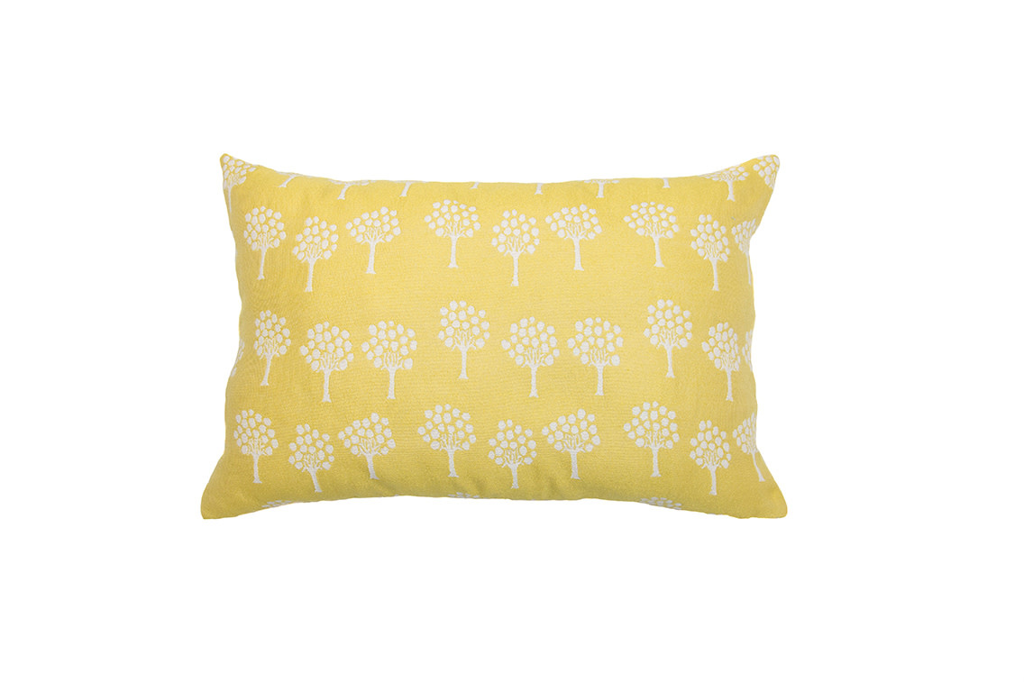 Kreatelier Tree Pillow in Chartreuse - 15 x 22in