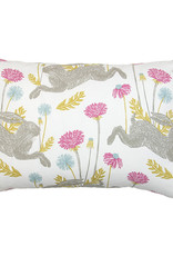 Kreatelier Bunny Pillow in Multi 15 x 22in