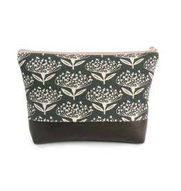Red Staggerwing Cosmetic Clutch Large in Pincushion
