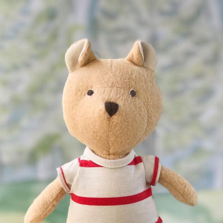 Hazel Village Stuffed Animal Nicholas Bear in Lodge Romper