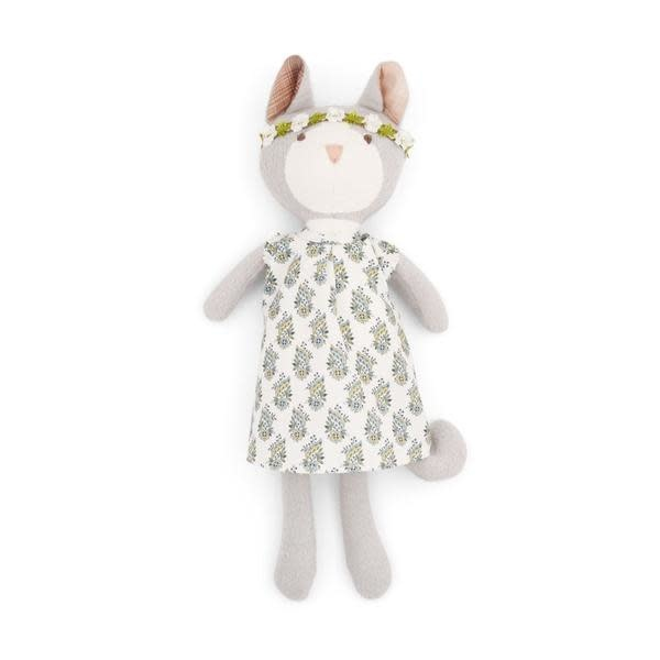 Hazel Village Stuffed Animal Gracie Cat in Tea Party Dress and Flower Crown