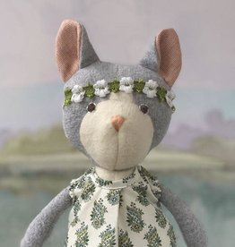 Hazel Village Stuffed Animal Gracie Cat in Tea Party Dress and Flower Crown
