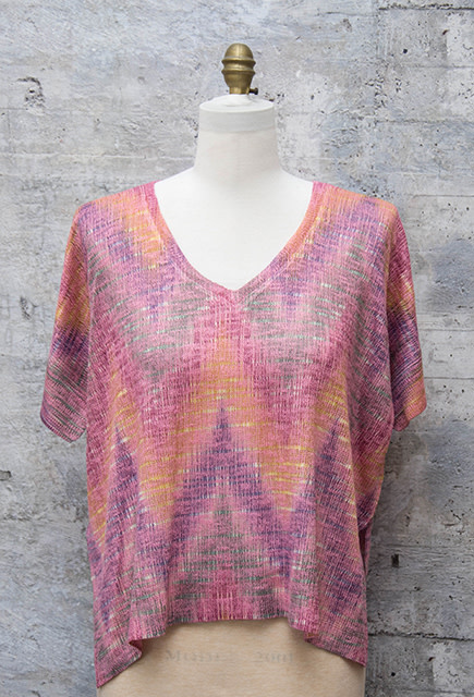 Nally and Millie Pastel Chevron Print Top Multicolor