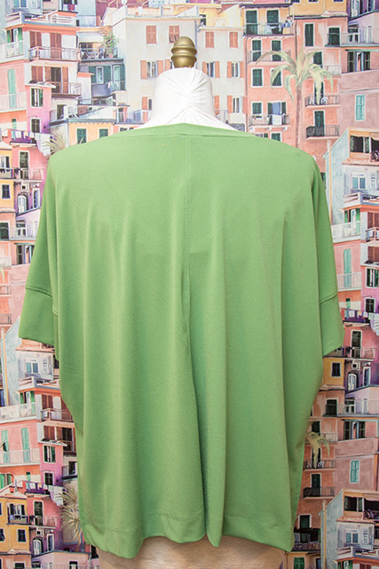 Nally and Millie V Neck Poncho Top Green
