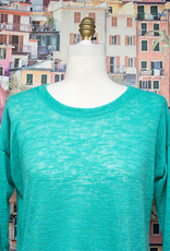 Nally and Millie Over Size Light Open Knit Top Waterfall