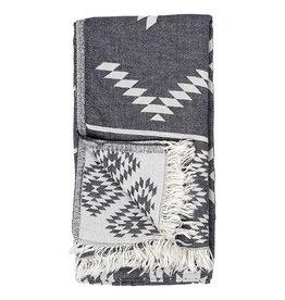 Pokoloko Turkish Towel Geometric Spanish Grey
