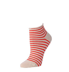 Little River Sock Mill Striped Bootie Natural Poppy