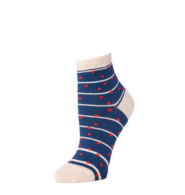 Little River Sock Mill Grand Dot Anklet Navy