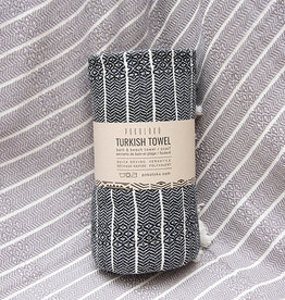 Pokoloko Bamboo Striped Towel Monochrome