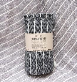 Pokoloko Bamboo Turkish Striped Towel Monochrome