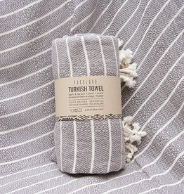 Pokoloko Bamboo Striped Towel Slate