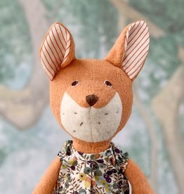 Hazel Village Stuffed Animal Flora Fox in Tea Party Dress