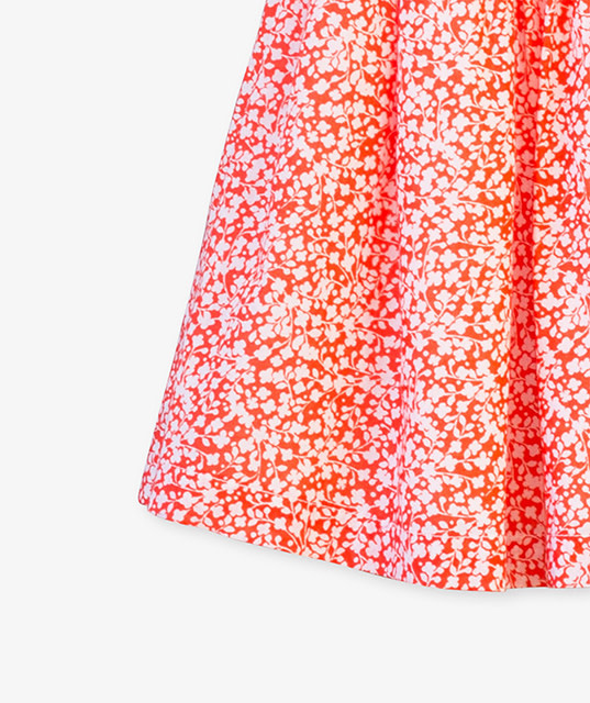Beetworld Coral Skirt in Orange Crush
