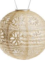 "Allsop Home and Garden Solar Lantern Boho Globe Pearl 12"""