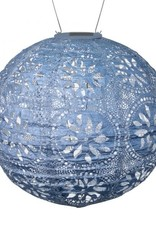 Allsop Home and Garden Solar Lantern Boho Globe Metallic Blue 12""