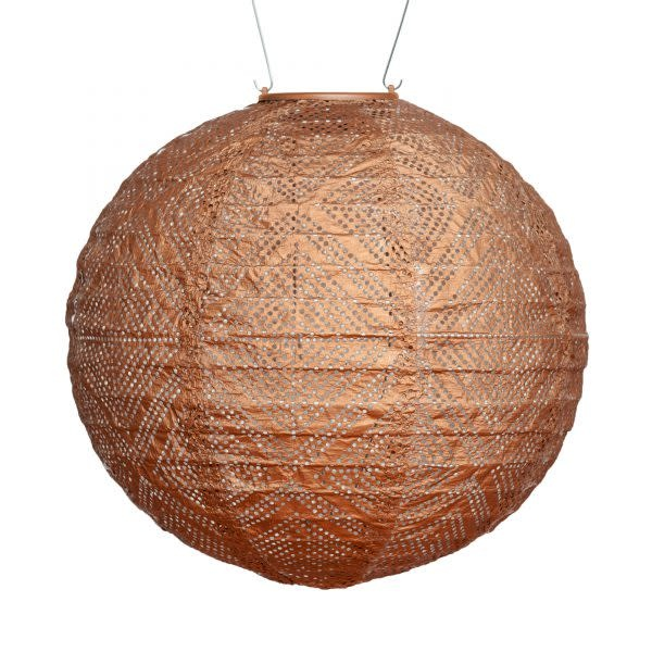 Allsop Home and Garden Solar Lantern Globe Market Copper 12""