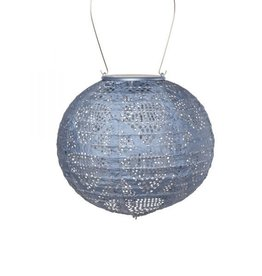 Allsop Home and Garden Solar Lantern Globe Metallic Blue 8""