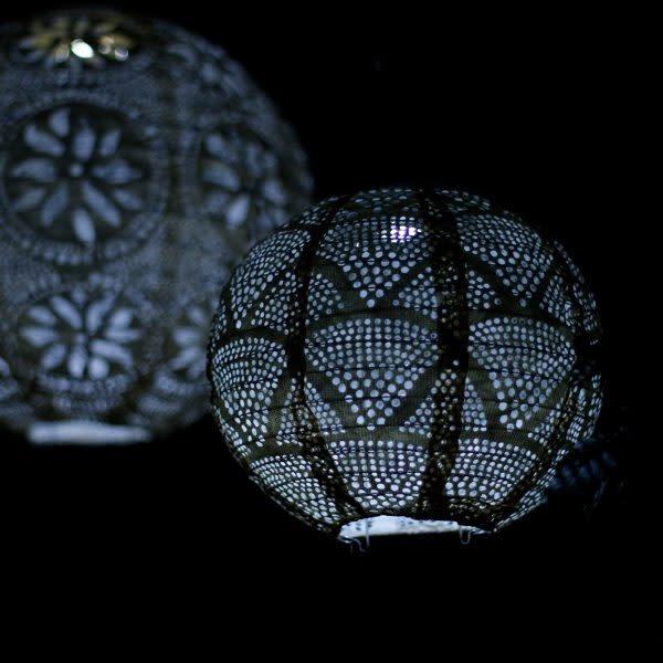 """Allsop Home and Garden Solar Lantern Globe Metallic Blue 8"""""""