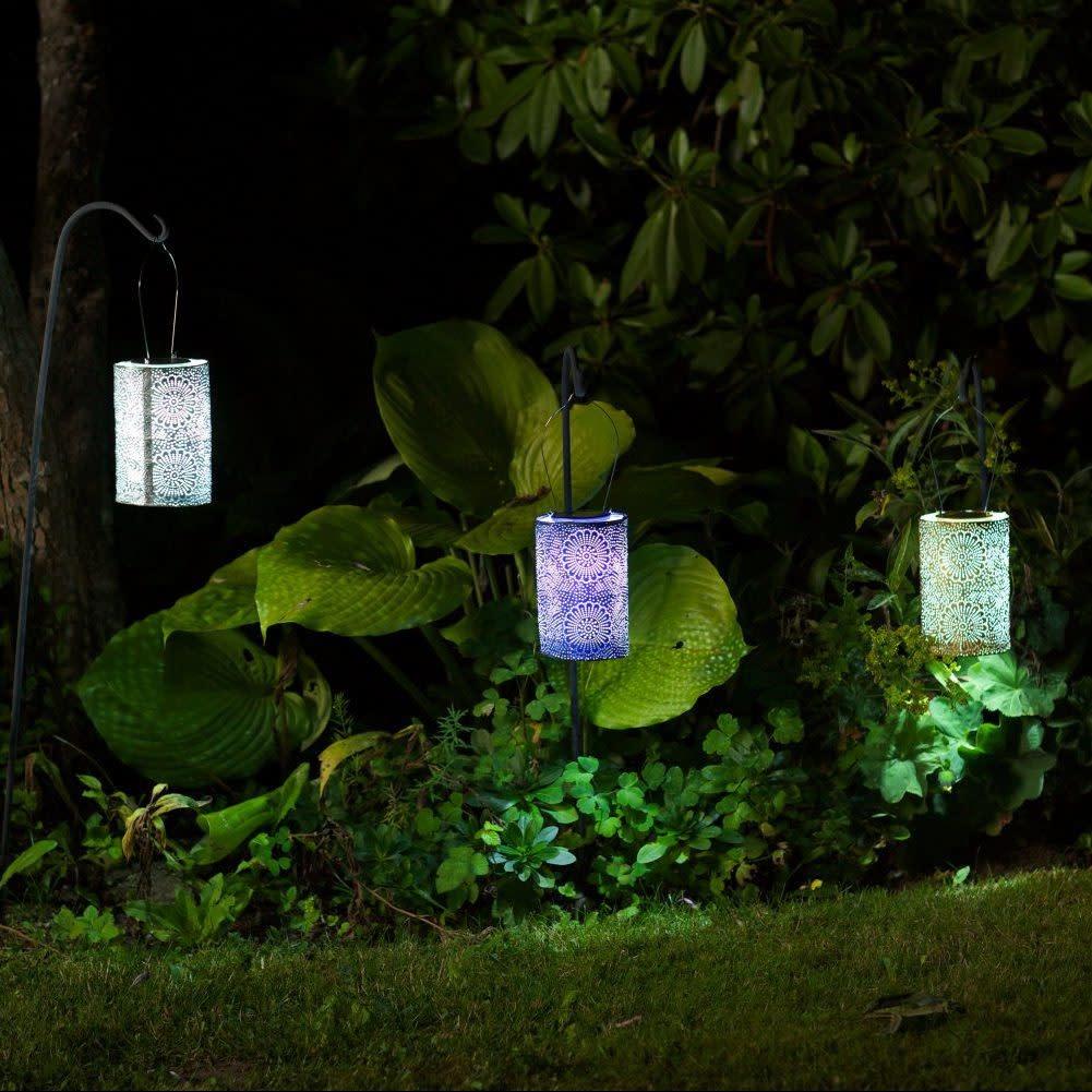 """Allsop Home and Garden Solar Lantern Cylinder Bronze 7.5"""""""