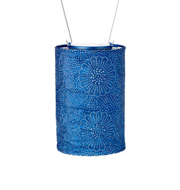 Allsop Home and Garden Solar Lantern Cylinder Blue 7.5""
