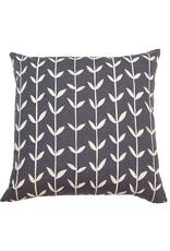 Kreatelier Vine Pillow in Charcoal 18 x 18in