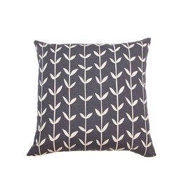 Kreatelier Vine Pillow in Charcoal - 18 X 18in
