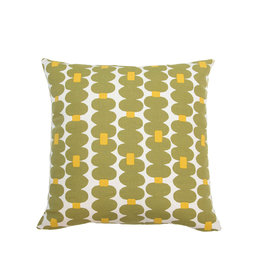 Kreatelier Dotted Stripe Pillow in Green and Yellow - 18 X 18in